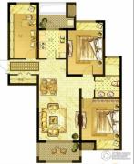 优山美地名邸3室2厅1卫112平方米户型图