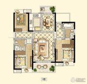 招商18723室2厅2卫119平方米户型图