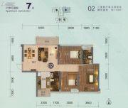 龙光天湖华府3室2厅2卫113平方米户型图