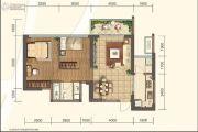 信和御龙山2室2厅1卫83平方米户型图