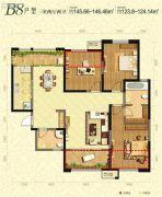 曲江千林郡3室2厅2卫145--146平方米户型图
