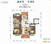 碧桂园・月湖湾3室2厅2卫120平方米户型图