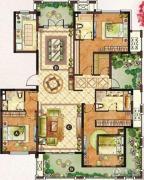 龙湖龙誉城3室2厅3卫190平方米户型图