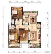 新建中心3室2厅2卫0平方米户型图