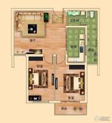 金河名都2室2厅1卫84平方米户型图