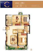 紫微台3室2厅1卫106平方米户型图