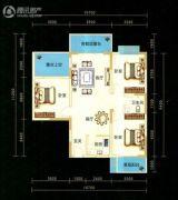九悦廷3室2厅2卫106平方米户型图