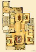 海星御和园3室2厅3卫187平方米户型图