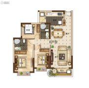 曲靖恒大绿洲3室2厅2卫122平方米户型图