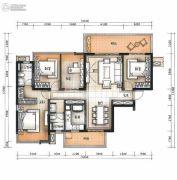 万科公园里4室2厅2卫125平方米户型图