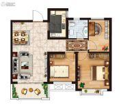 红星国际广场3室2厅1卫88平方米户型图