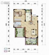 天籁谷1室1厅1卫51平方米户型图