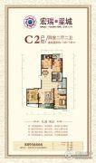 宏瑞国际星城4室2厅2卫143--145平方米户型图