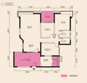 在水一方3室2厅2卫164平方米户型图