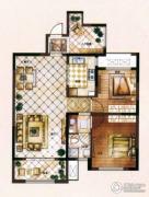 爱家皇家花园2室2厅1卫104平方米户型图