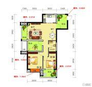 海御新天地2室2厅1卫88平方米户型图