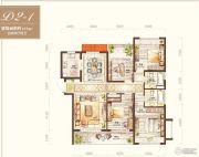 绿地海外滩4室2厅2卫137平方米户型图