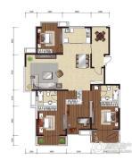 影人四季花园4室2厅2卫260平方米户型图