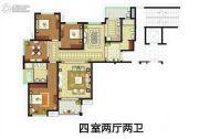 外滩一号4室2厅2卫143平方米户型图