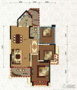 领地・国际公馆2室2厅1卫87平方米户型图