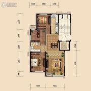 金地悦峰3室2厅2卫97平方米户型图