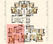 中澳滨河湾3室2厅2卫118平方米户型图
