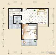 观音南部兴城1室2厅1卫59平方米户型图