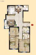明发锦绣华城3室2厅2卫117平方米户型图