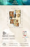彰泰・金桥水岸3室2厅2卫94--110平方米户型图