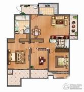 港城尚府3室2厅1卫0平方米户型图