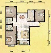丽晶名邸3室2厅2卫126平方米户型图
