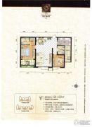 美信・海公馆2室2厅2卫121--123平方米户型图