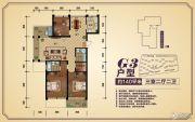 香樟源3室2厅2卫140平方米户型图