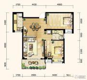 明发城市广场2室2厅1卫84平方米户型图