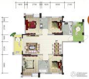 万富・智慧城4室2厅2卫135平方米户型图