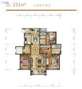 远洋荣域3室2厅2卫151平方米户型图