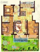金色家园3室2厅2卫137平方米户型图
