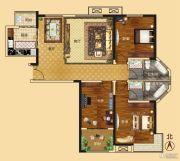 新龙御都国际3室2厅2卫145平方米户型图