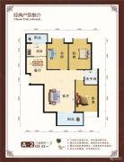 世纪华庭3室2厅1卫102平方米户型图