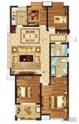瀛海19城4室2厅2卫143平方米户型图