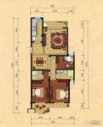 巴黎都市3室2厅2卫133平方米户型图