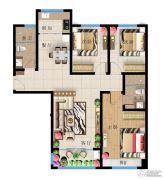 远洋・新天地3室2厅2卫130平方米户型图