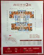 泷江翡翠城3室2厅2卫107平方米户型图