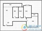 瑞升望江橡树林2室2厅1卫83平方米户型图
