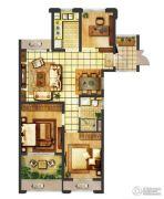 翠屏城3室2厅1卫94平方米户型图