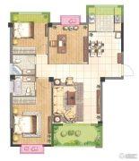 赞城3室2厅2卫102平方米户型图