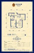良城国际二期御景2室2厅1卫80--95平方米户型图