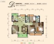 三正瑞士公馆4室2厅2卫0平方米户型图