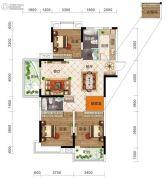 保利时代3室2厅2卫124平方米户型图