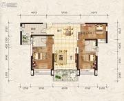 合生上观国际3室2厅2卫0平方米户型图